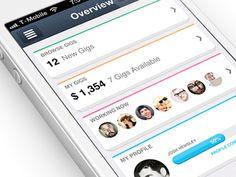 New iPhone app design | Dashboard UI,UX interface
