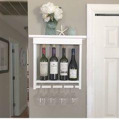 handmade wine rack, gift for mom