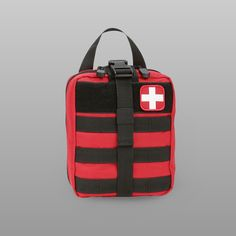 MOLLE Rip-Away EMT Medical First Aid Pouch - RED The Orca Tactical MOLLE  Rip Away First Aid Medical Pouch is a roomy a40ba83825
