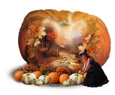 """Pumpkin Patch Celebration"" by ragnh-mjos ❤ liked on Polyvore featuring art, contest, october and pumpkin"