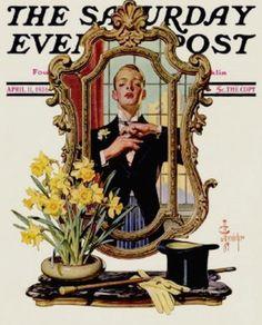 Leyendecker, Joseph Christian (b,1874)- Primping- 'Sat Eve Post', 1936 -2d