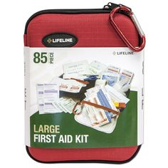 Amazon.com : Lifeline 85-Piece Large Hard Shell First Aid Kit : Camping First Aid Kits : Home Improvement