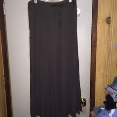 Maxi Skirt Size Large in very nice condition, olive color great for fallelastic waistband size large Skirts Maxi