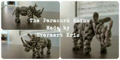 The Paracord Rhino Made by Everaert Kris  #paracord #everaert #kris #animal #rhino