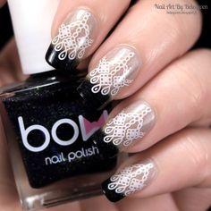 Nail Art By Belegwen: Bow Black Thermo Top Coat