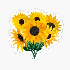 Ilze Lucero is an independent artist creating amazing designs for great products such as t-shirts, stickers, posters, and phone cases. Cute Laptop Stickers, Bubble Stickers, Cool Stickers, Printable Stickers, Vsco, Homemade Stickers, Sunflower Bouquets, Macbook Decal, Aesthetic Stickers