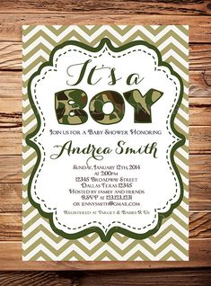 Elegant Baby Boy Camouflage Baby Shower Invitations. Lower Prices Available. This  Is A Real Card (not An E Card) Shared From Sendcere. | Pinterest | Baby Bu2026