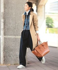 Pin by Cecilia Chang on Women's fashion in 2020 Looks Street Style, Looks Style, Street Style Women, Japan Fashion, Look Fashion, Winter Fashion, Mode Outfits, Casual Outfits, Fashion Outfits