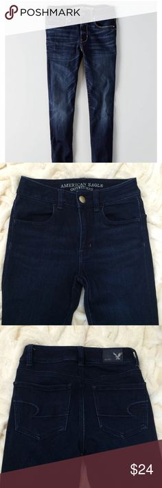 American Eagle Skinny Jeans American Eagle X dark skinny jeans. Excellent condition, no signs of wear. Available online only from American Eagle. American Eagle Outfitters Jeans Skinny