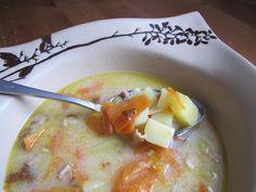 Zupa ziemniaczana z wędzonym boczkiem #wedzonyboczek #tradycyjnewedliny #smakpodlasia #wedlina #boczek #ciekaweprzepisy