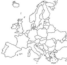 Europe Packing Carry On - Europe Building House - Europe Interior Design - Backpacking Europe Family - Europe Map Printable, Eastern Europe Map, Continent Europe, Pays Europe, Packing For Europe, Europe Map Travel, Backpacking Europe, Map Tattoos, Map Outline