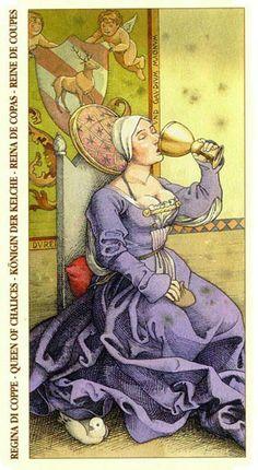 Queen of Cups - Albrecht Dürer Tarot (2002) by Giacinto Gaudenzi