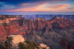 Sunset at Bright Angel Point along the north rim of the Grand Canyon. Re-processing some old shots. Enjoy