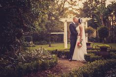 Wedding photograph of bride and groom. Garden wedding in Tampa.