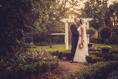 Wedding photograph of bride and groom. Garden wedding in Tampa.