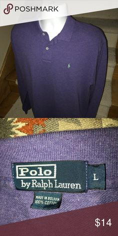 Polo by Ralph Lauren l/s casual golf polo shirt L Classic men's Polo by Ralph Lauren long sleeved casual golf polo shirt that is sized large.  Polo Pony logo on the chest.  Flawless gently used condition. Polo by Ralph Lauren Shirts Polos