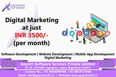 Gayatri software is the best in website, software, Hybrid Mobile app development, Digital Marketing, and Product development. We are working with India biggest MNC'S and providing best in class services. Website Development Company, Software Development, On Page Seo, Mobile Application Development, Digital Marketing, Web Design, Platform, Social Media, Posts