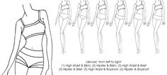 Ladies Basic Brief Bottoms -XS-XXXL - pdf sewing pattern