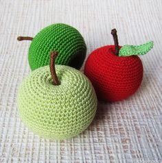 вязаные фрукты и ягоды - яблоко (rukodelnoe.ru)