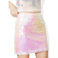 Neon Sequin Stripe Mini Skirt by Jaded London - Skirts - Clothing ...