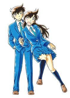 Detective Conan - Shinichi and Ran Detective Conan Ran, Detective Conan Shinichi, Ran And Shinichi, Kudo Shinichi, Conan Movie, Detektif Conan, Magic Kaito, Anime Couples Manga, Manga Anime