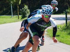 Nicola Canella in testa al gruppo a San Miniato