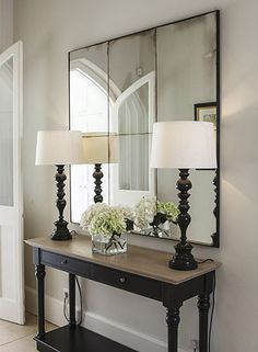 50 Best Interior Stores in London Hallway Mirror, Hall Mirrors, Hallway Wall Lights, Upstairs Hallway, Hallway Decorating, Entryway Decor, Decorating Ideas, Home Living Room, Living Room Decor