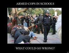 armed cops in schools?