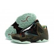 Cheap Lebron 11 Brown Black Green $107.90  http://www.blackonshoes.com