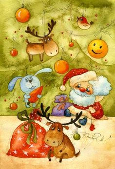 Christmas Illustration by Vika Kirdiy