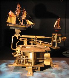 links fantastic schooner and sail boat mechanical automata toy