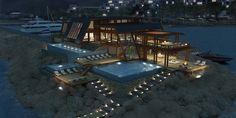 Progetto speciale  in Turchia Antalya, Outdoor Furniture Sets, Outdoor Decor, Istanbul Turkey, Architecture Design, Villas, Houses, Concept, Home Decor