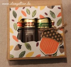 stampin up herbst eichel acorny thanks herbstgrüße workshop autumn fall brush strokes merci verpackung