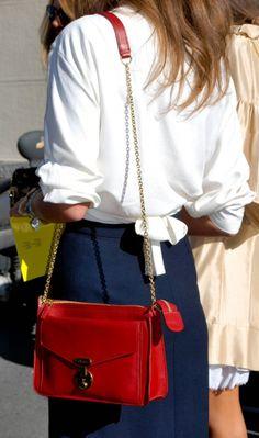 stylish red, white & blue
