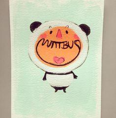 JoEMintbus — 판다 탈을 쓴 녀석..#panda #boy #mintbus #daily #sketch...