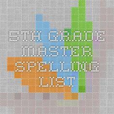 5th grade master spelling list