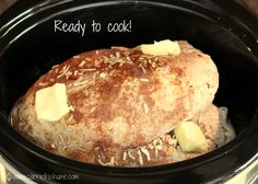 This easy Crockpot Turkey Breast is juicy and tender with almost no prep time! It's perfect for a smaller holiday gathering or a weeknight meal with leftovers! Slow Cooker Turkey, Crock Pot Slow Cooker, Cooking Turkey, Crock Pot Cooking, Slow Cooker Recipes, Cooking Recipes, Meat Recipes, Wild Turkey Recipes, Turkey Food