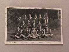 Items similar to Vintage Photo, Rugby Team, 002 on Etsy