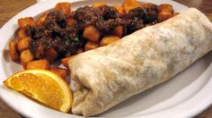 Breakfast burrito with potatoes and salsa from Beano's Casino in Las Vegas.