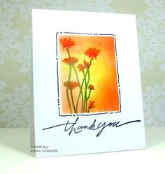 yellow handmade stamped cards | of orange and yellow make a wonderful handmade thank you card ...