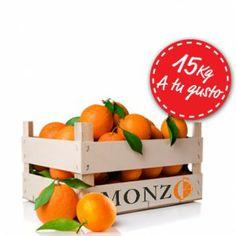 Caja personalizada de 15 Kg #naranjas, #mandarinas, #domicilio, #casa, #online, #valencia