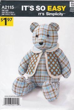 My go-to memory bear sewing pattern!