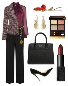 """Tweed Jacket for Fall"" by arta13 on Polyvore featuring DKNY, Chanel, Jimmy Choo, Giambattista Valli, NARS Cosmetics, Prada and Tom Ford"