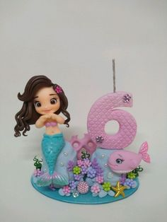 Little Mermaid Cakes, Mermaid Birthday Cakes, Fondant Cake Toppers, Fondant Figures, Baby Shower Parties, Baby Boy Shower, Under The Sea Theme, Clay Figurine, Disney Cakes