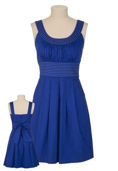 Maurice's blue contrast stitch scoop neck dress