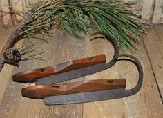 Antique 1800's Pair of Wood Ice Skates Large Curl Fronts   eBay  sold   205.00.     ...~♥~