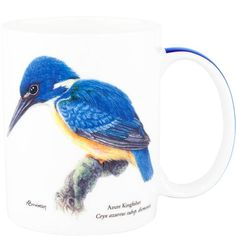 Ashdene Mug Kingfisher -Endangered Species - Art by Australian artist/illustrator living in the Blue Mountains - Anne Bowman(she has cared for injured & orphaned wildlife), this hands on experience has given her a deep appreciation of our fauna as well as providing invaluable help in her Art - on Sale at Ozsale ♥♥
