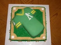 Birthday cake for a really big A's fan.