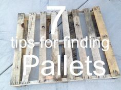 7 tips for finding wood pallets || I'd never thought to check #4