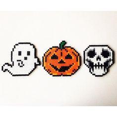 Halloween perler beads by  pixelstorebr